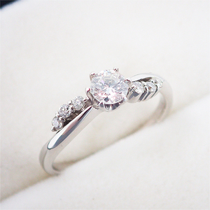 リング 指輪 Pt900 プラチナ ダイヤモンド ダイヤ パヴェ 0.342ct 11号