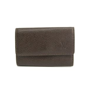 Louis Vuitton Taiga Men's Taiga Leather Key Case Grizzly M30538 6 Key Holder