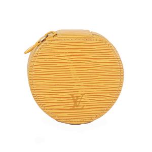 Auth Louis Vuitton Jewelry Case Epi Ecrin Bijoux 10 M48217  Jaune Epi Leather