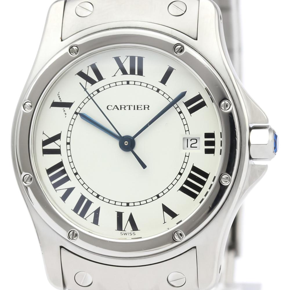 CARTIER Santos Cougar Steel Quartz Mid Size Watch W20027K1