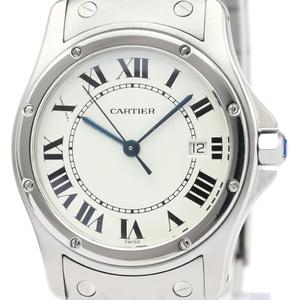 【CARTIER】カルティエ サントス クーガー MM ステンレススチール クォーツ ボーイズ 時計 W20027K1