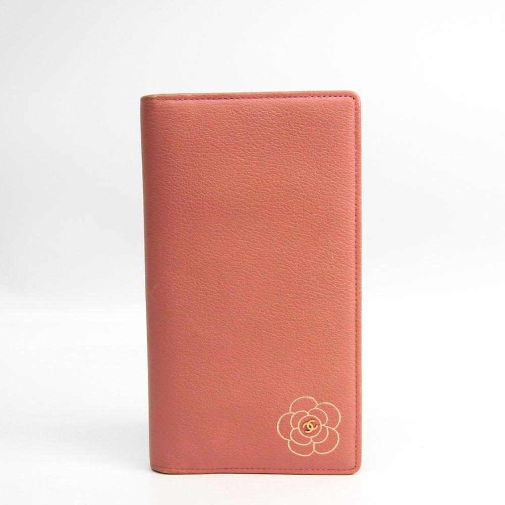シャネル(Chanel) カメリア A46511 レディース  カーフスキン 長財布(二つ折り) ピンク