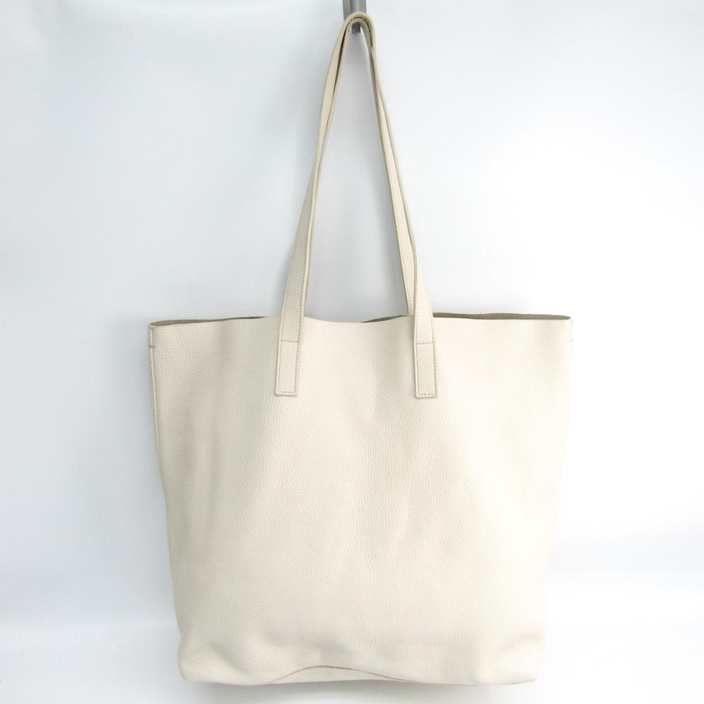 Prada Double Bag BN2775 Women's Leather Tote Bag Talco