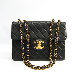 シャネル(Chanel) マトラッセ ダブルチェーンバッグ レディース レザー ショルダーバッグ ブラック