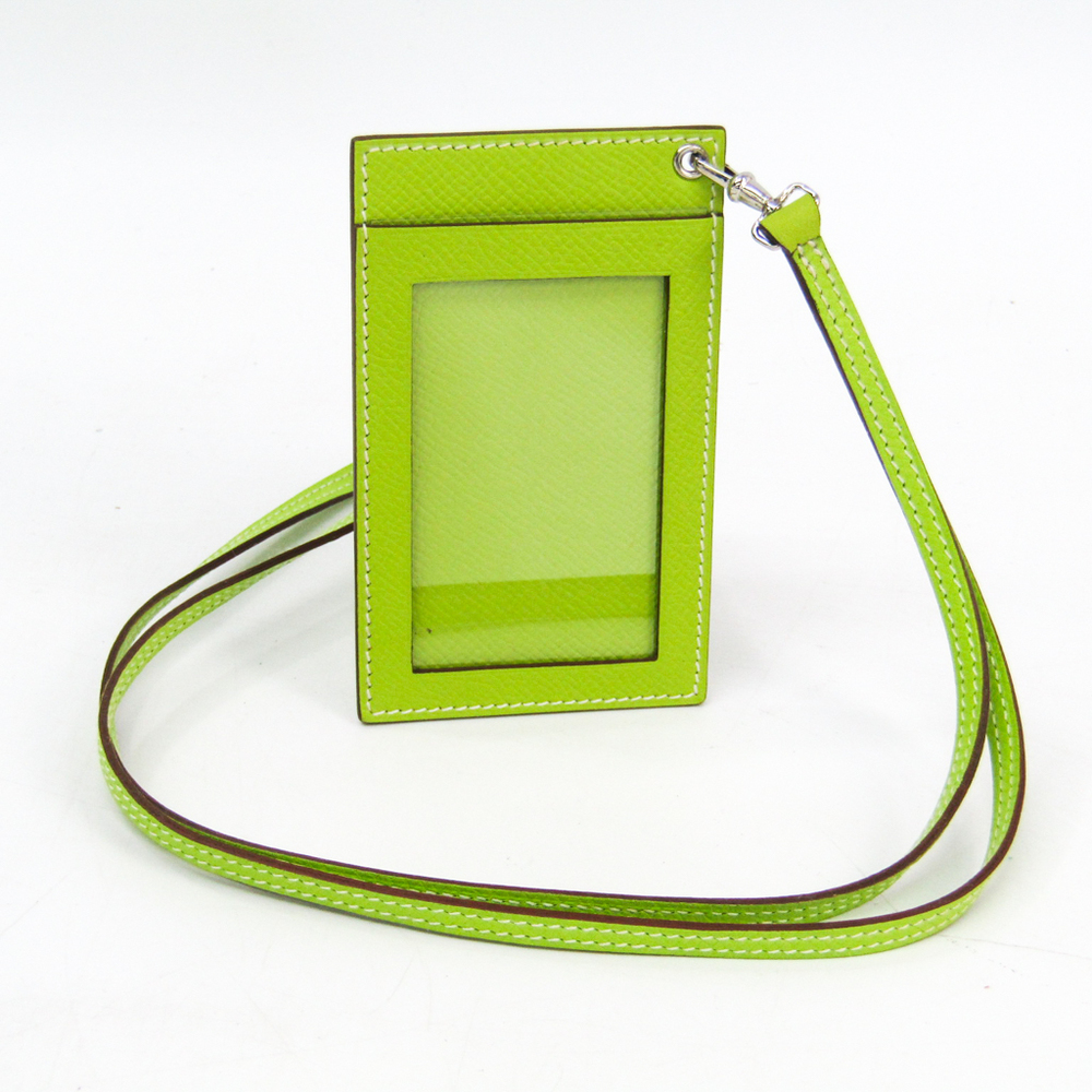 Hermes Leather ID Case Apple Green