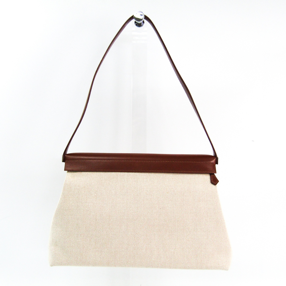 Hermes Yoeh Bag Women's Barenia Leather,Togo Leather Shoulder Bag Beige,Brown,Orange