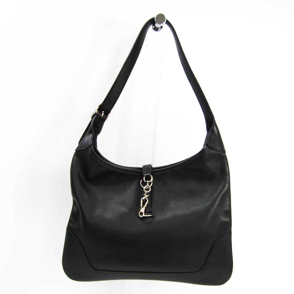 Hermes Trim Trim 31 Vache Liegee Leather Shoulder Bag Black