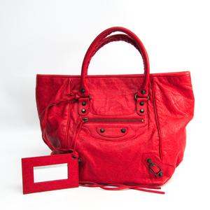 Balenciaga Sunday 228755 Women's Leather Handbag Red