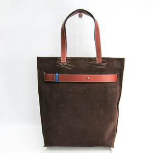 ロエベ(Loewe) ストラップバーティカル 324.61.R35 メンズ スエード,キャンバス トートバッグ ブルー,ブラウン,カーキ