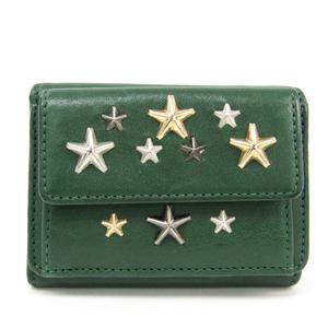 Jimmy Choo Nemo Women's Leather Wallet (tri-fold) Green