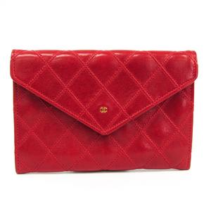 シャネル(Chanel) ビコローレ  ラムスキン 中財布(二つ折り) レッド