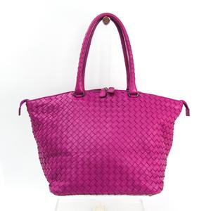 Bottega Veneta Intrecciato 214728 Women's Leather Handbag Purple