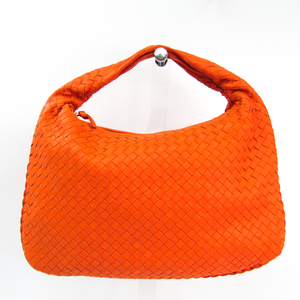 Bottega Veneta Intrecciato Hobo 115653 Women's Leather Shoulder Bag Orange