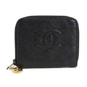 シャネル(Chanel) レディース キャビアスキン 小銭入れ・コインケース ブラック