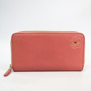 シャネル(Chanel) カメリア レディース  カーフスキン 長財布(二つ折り) ピンク