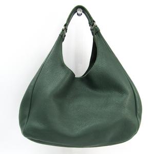 Bottega Veneta Intrecciato Campana 124864 Women's Leather Handbag Green