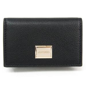 Jimmy Choo マティア/MATTIA GFH 010003 Leather Card Case Black
