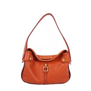 Salvatore Ferragamo Gancini Handbag Women's Leather Handbag Orange