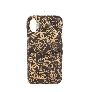 シャネル 携帯ケース マトラッセ iPhoneX XS ラムスキン ブラック