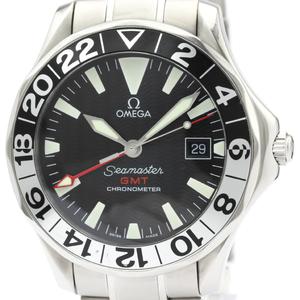 【OMEGA】オメガ シーマスター GMT ジェリーロペス ステンレススチール 自動巻き メンズ 時計 2536.50