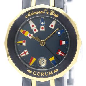 【CORUM】コルム アドミラルズカップ K18 ゴールド ステンレススチール クォーツ レディース 時計 39.610.31