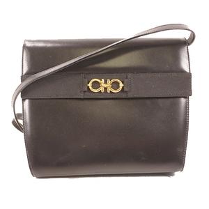 Salvatore Ferragamo Gancini Handbag Women's Leather Shoulder