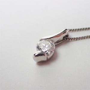 ネックレス Pt900 Pt850 プラチナ ダイヤモンド0.274ct ダイヤ