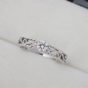 リング 指輪 Pt900 プラチナ ダイヤモンド0.21ct・ピンクダイヤ0.02ct ダイヤ 11号