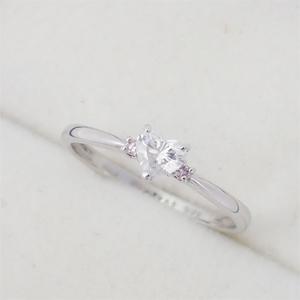 リング 指輪 Pt900 プラチナ ダイヤモンド 0.268ct ピンクダイヤモンド0.02ct ダイヤ 12号