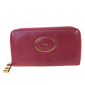 クロエ(Chloé) レザー 長財布(二つ折り) レッド