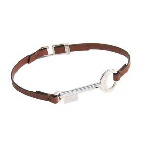 Louis Vuitton Metal,Leather Bracelet Cognac M68097トラベルキーブレスレット