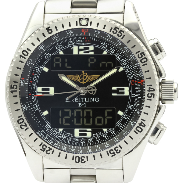 Breitling B-1 Quartz Stainless Steel,Gold Plated Men's Sports Watch A68362