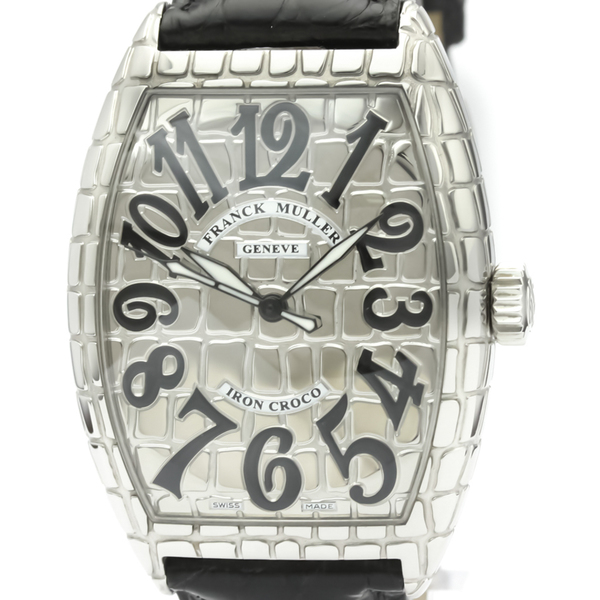 Franck Muller Cintree Curvex Automatic Stainless Steel Men's Dress Watch 7880SC IRON CRO