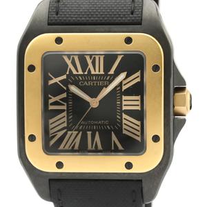 Cartier Santos 100 Automatic Pink Gold (18K),Stainless Steel Men's Dress Watch W2020009