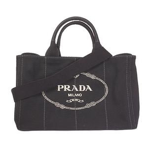 プラダ トートバッグ カナパ キャンバス ブラック