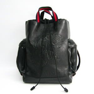 Gucci 45097 9DSVPX 8545 Men's Leather,Nylon Backpack Black