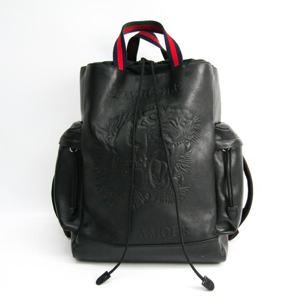 グッチ(Gucci) 45097 9DSVPX 8545 メンズ レザー,ナイロン リュックサック ブラック