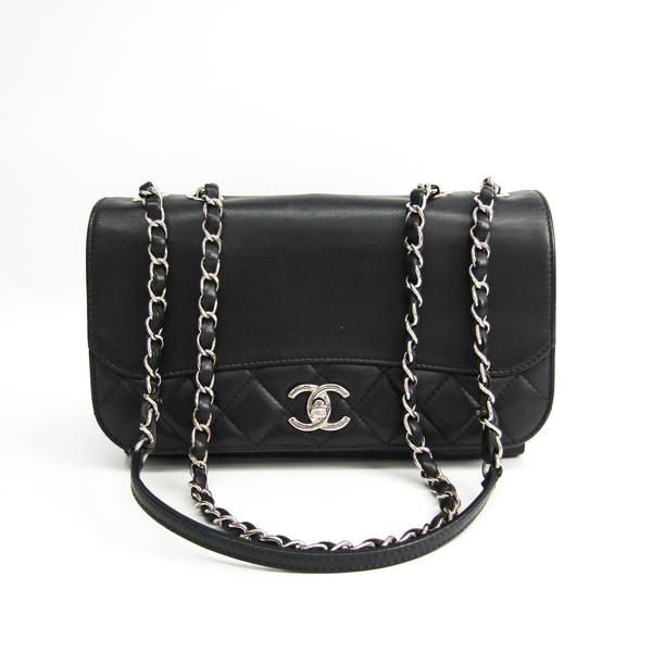 シャネル(Chanel) マトラッセ ラムスキン チェーントート レディース レザー トートバッグ ブラック