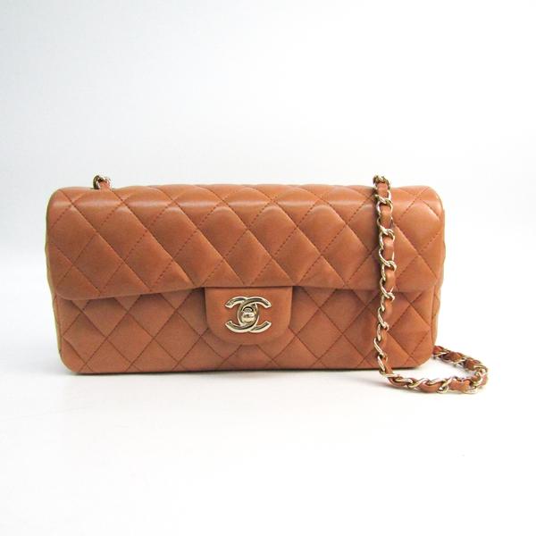 シャネル(Chanel) マトラッセ チェーンショルダー レディース レザー ショルダーバッグ ベージュブラウン