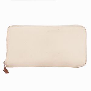 エルメス アザップロングシルクイン 二つ折り長財布 A刻印 エプソン ホワイト