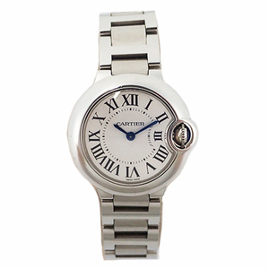 Auth Cartier Ballon Bleu Automatic Stainless Steel Women's Watch W69010Z4