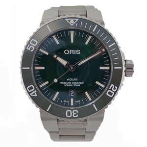 Auth Oris Automatic Stainless Steel Men's Watch Aquis Ice Date 733.7730