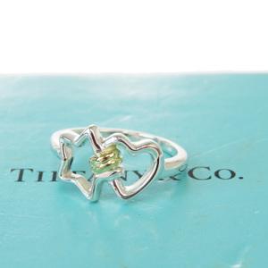 ティファニー(Tiffany) サイズ 6 K18G(ゴールド),シルバー925 指輪・リング シルバー