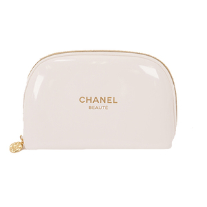 Auth Chanel Pouch Novelty Pouch Women's Pouch White