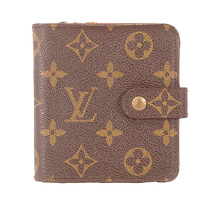 Auth Louis Vuitton Monogram Compact Zip M61667 Women's  Wallet