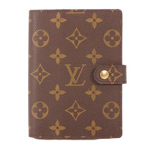 Auth Louis Vuitton Monogram Planner Cover Monogram R20005