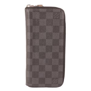 Auth Louis Vuitton Damier Graphite N63095 Men's Damier Graphite Long Wallet