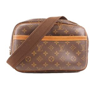 Louis Vuitton Monogram Reporter PM M45254 Women's Shoulder Bag Brown