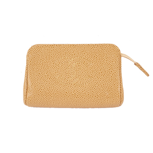 Auth Chanel Pouch Novelty Pouch Women's Caviar Leather Pouch Beige