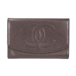 Auth Chanel Bi-fold Wallet Women's  Wallet (bi-fold) Black